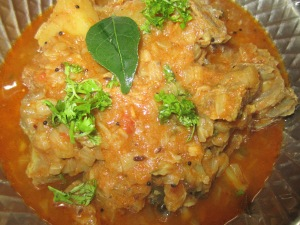 piping hot mutton gravy ready for serving